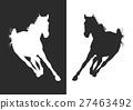 horse silhouette 27463492