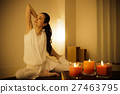 瑜伽熱瑜伽普拉提香薰健身運動女性瑜伽工作室 27463795