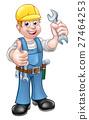 mechanic, spanner, vector 27464253