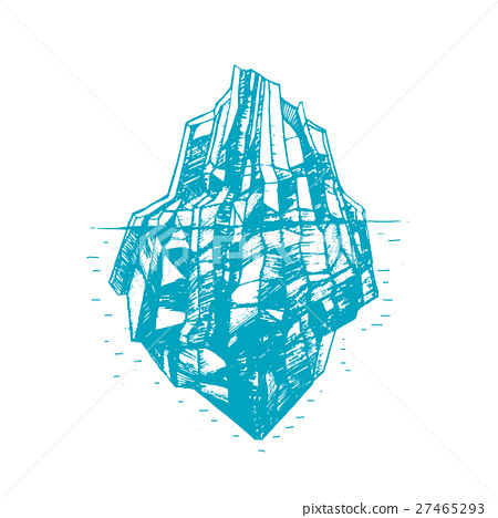Iceberg Hand Draw Sketch. Vector 27465293