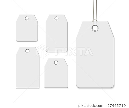 blank labels template price tags set realistic stock illustration