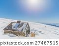 Wooden Hut in Snowy Landscape 27467515