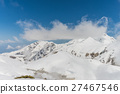 High mountains under snow with clear blue sky 27467546