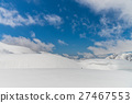 High mountains under snow with clear blue sky 27467553
