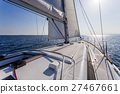 sail vessel surfing on the sea 27467661