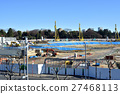 track and field stadium, under construction, construction site 27468113