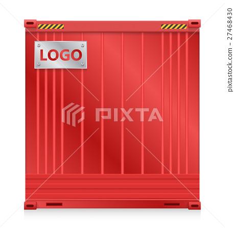 Cargo Container Vector 27468430