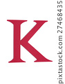 Colorful greek alphabet. Kappa. Red 27468435