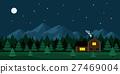 stars, moon, house 27469004