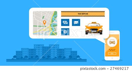taxi service concept 27469217