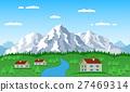 mountain village landscape 27469314