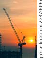 Construction Crane Silhouette 27470096