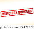 delicious burgers text buffered 27470327