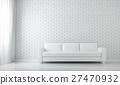 3D illustration of relax white room, relaxing. 27470932