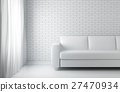 3D illustration of relax white room, relaxing. 27470934