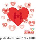 wedding, heart, hearts 27471088