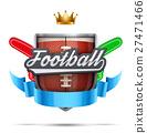 american, football, vector 27471466