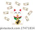 cat, lucky item, beckoning cat 27471834