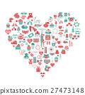 Valentine`s day icon set. Romantic design elements 27473148