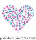 Valentine`s day icon set. Romantic design elements 27473149