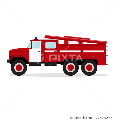 Red Fire Engine. Vector 27473277