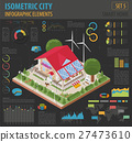 Flat 3d isometric smart home and city map  27473610