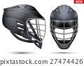 Black Lacrosse Helmet set 27474426