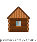 Wooden house vector illustration. 27475817