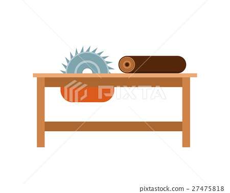 Vector illustration chainsaw working tool. 27475818