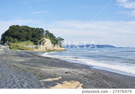 가마쿠라 대부분 사철 검은 모래 해변과 稲村ヶ崎 27476979