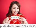 beauty woman wear cheongsam 27477635