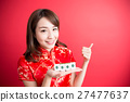beauty woman wear cheongsam 27477637