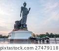 Grand Walking Buddha statue in Thailand 27479118
