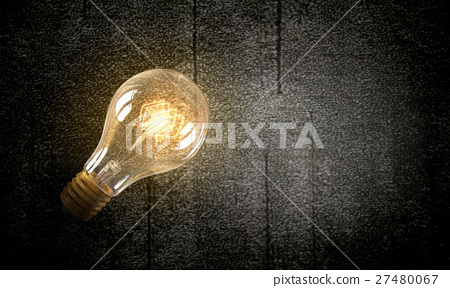 Electric bulb on texture 27480067