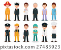 People professions and occupations icon set. 27483923