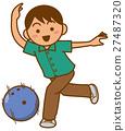 保齡球 矢量 運動 27487320