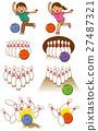 bowling, vector, vectors 27487321