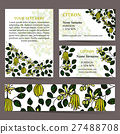 Tropical card set for different invitations 27488708