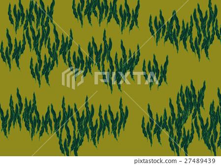 Konbu kelp watercolor painting 27489439