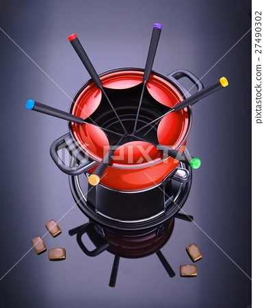 red fondue set 27490302