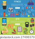 fitness, gym, vector 27490370