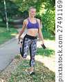 healthy lifestyle fitness sporty woman running 27491169
