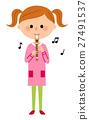 孩子 吹 錄音機 27491537