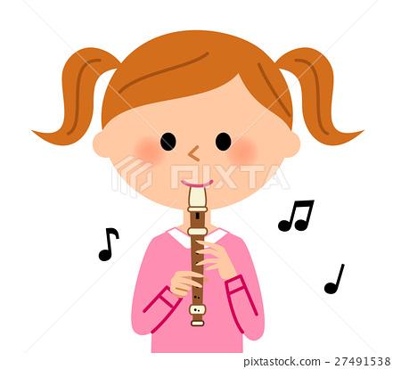 女孩吹錄音機 27491538