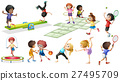 Children doing different sports and games 27495709