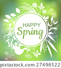 spring vector greeting 27496522