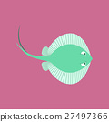 Vector illustration in flat style ramp fish 27497366
