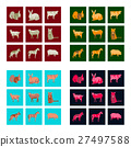 Set of vector illustration in flat style animals 27497588