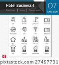 Hotel Business elements set 4 vector black icons. 27497731