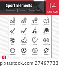 Sport center elements vector black icons set. 27497733